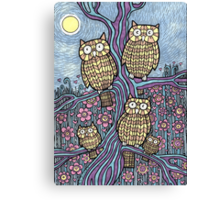 Owls Outing Canvas Print