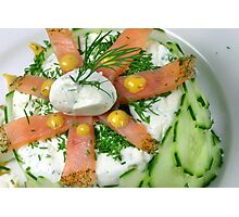Mousse With Salmon, Cucumber and Herbals Photographic Print