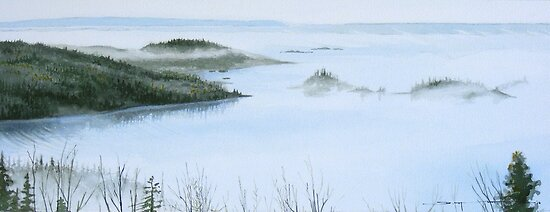 Mist Over Hydro Bay by Douglas Hunt