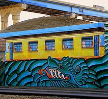 Trainspotting in The Barrio by paintingsheep