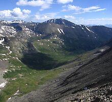 The Valley of Wheeler Lake, Democrat-Cameron Saddle, CO 2010 by J.D. Grubb