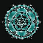 Throat Chakra Mandala by Laural Virtues Wauters