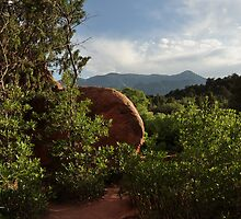 rocky mountains in the background from garden of the gods by 1busymom
