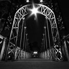Porthill bridge at night by little-owl
