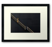 COURAGE is daring to climb the Staircase of Life, even when the Elevator is fully functional Framed Print