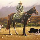 Concentratin' On Th' Long Paddock by Michael Jones