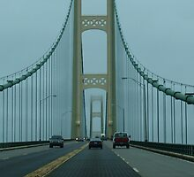 Crossing The Mackinac Bridge into the Fog by BarbL