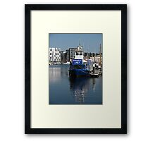 The Orwell Lady, Ipswich Waterfront Framed Print