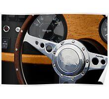 Morgan +4 dashboard & steering wheel Poster