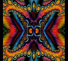 60's Fractal Butterfly by Marvin Hayes