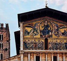 Basilica of San Frediano in Lucca, Tuscany. by Peter Ellison