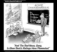 Glenn Beck & Chalkboard Stocks by Londons Times Cartoons by Rick  London