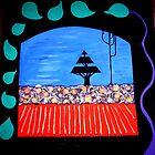 REDREAMING WINDOW TO THE GARDEN by WENDY BANDURSKI-MILLER