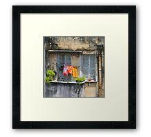 The washing line, Brazil Framed Print