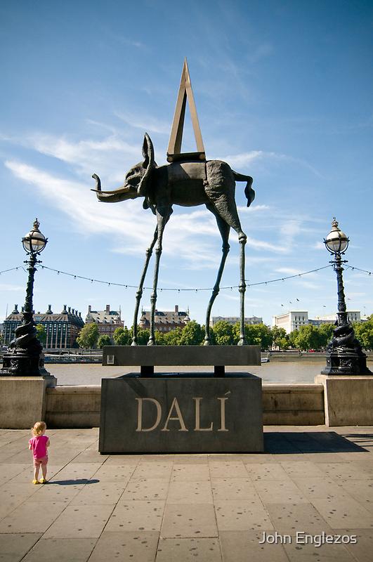 Child and Dali's Elephant by John Englezos