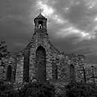 Lindisfarne Church (B&W) by Ryan Davison Crisp