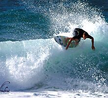 Surfer in Action Honolulu Hawaii 2006 by dnrgizer69