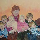 Family Group Portrait - Faye by scallyart