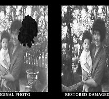 Sample Restored Photo: Before and After by Junior Mclean