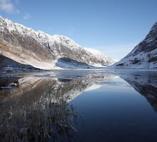 Cold Winters Day in Glencoe. by John Cameron