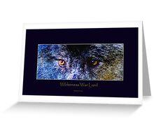 Grey Wolf Eyes III Art Poster Greeting Card