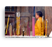 Ping Yao - Monk and incense. Canvas Print