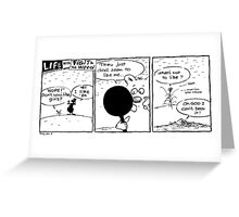 """Life with Figit and the Weed. #38. """"You Whore"""" Greeting Card"""