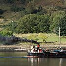 Old Clyde Puffer on Loch Linnhe. by John Cameron