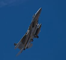 F-15 Strike Eagle banking by Henry Plumley