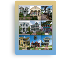 Victorian Homes of Galveston Island Canvas Print