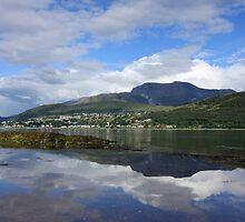 Fort William,Ben Nevis & Loch Linnhe. by John Cameron