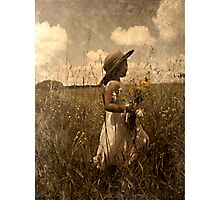 Picking Wild Flowers Photographic Print