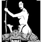 Geisha Assassin II Black and White by ZugArt