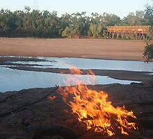 Out of the frying pan....De Grey River, WA by bushplumbersmrs