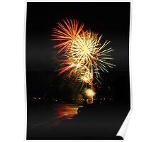 Celebration - Lake Huron, July 4th Poster