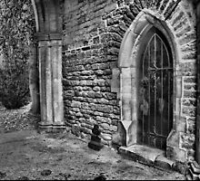 Door and Arch B&W by Robyn Maynard