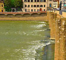 Arno River Quay I by Denis Molodkin
