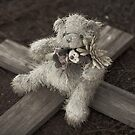 Teddy Bear on Cross #1 by farmboy