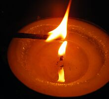 Candles are contagious by Margaret Bonnes