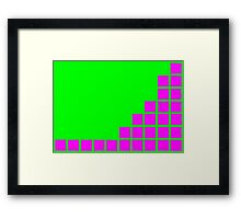 Series:27 episode 1 in green and magenta Framed Print