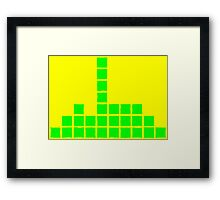Series:27 episode 3 in yellow and green Framed Print
