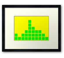 Series:27 episode 4 in yellow and green Framed Print