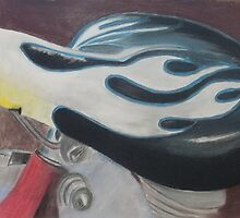 "Hot Seat - Pastel on paper 18"" X 24"" $150 unframed by Claudia Goodell"