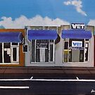 Blue Awnings by Joan Wild