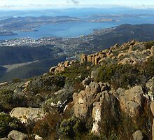 Hobart from Mt Wellingon by Charles Kosina