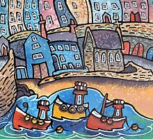 3 Little boats, Tenby, Pembrokeshire by Dorian Davies