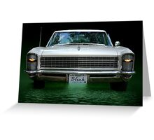 """1965 Buick Riviera Grand Sport  """"Blink""""  Greeting Card"""