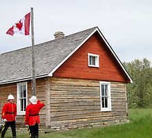 The Flag Raising, Canada Day 2010 by Al Bourassa