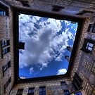 The clouds of Cesky Krumlov framed. by Nik Jowsey