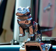 Barking up to the wrong tree Mack! Vintage lorry chrome object. by patjila